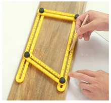 Multifunctional Plastic Ruler Folding At Any Angle Multi purpose Changeable Four-sided Folding Ruler Hand drawn Measuring multifunction folding ruler plastic activities four folding ruler multi angle ruler aluminum measuring tools
