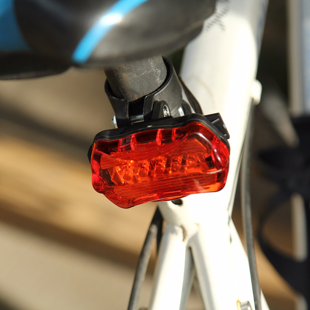 Hot Sale Bike Bicycle 5 LED Rear Tail Light Bicycle Cycling Red Light MTB Bike Safety