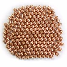 7 mm 8 mm 9 mm 10 mm 50 unids / bolsa cuentas de acero de alta precisión de oro, cara de espejo, para la caza de la honda, munición munición bola al aire libre