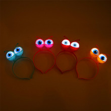 LED Glowing Big Eyes Toy Globes Eyepiece Headband Children Light Up Hats Party Wedding Supplies Glow in the Dark Toys Red Blue