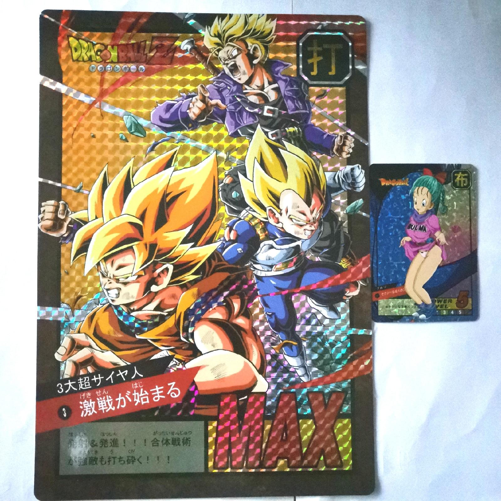 8pcs Big Card Super Dragon Ball Length 26cm Width 18cm Heroes Battle Ultra Instinct Goku Super Game Collection Anime Cards