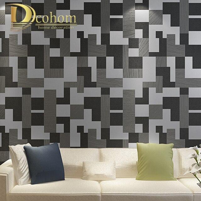 Di alta qualit mosaico 3d carta da parati per pareti for Carta da parati per soggiorno moderno