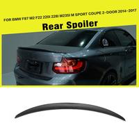 Car Styling Carbon Fiber Spoiler Rear Trunk Lip Wing for BMW 2 Series F87 M2 F22 220i 228i M235i Coupe 2014 2017