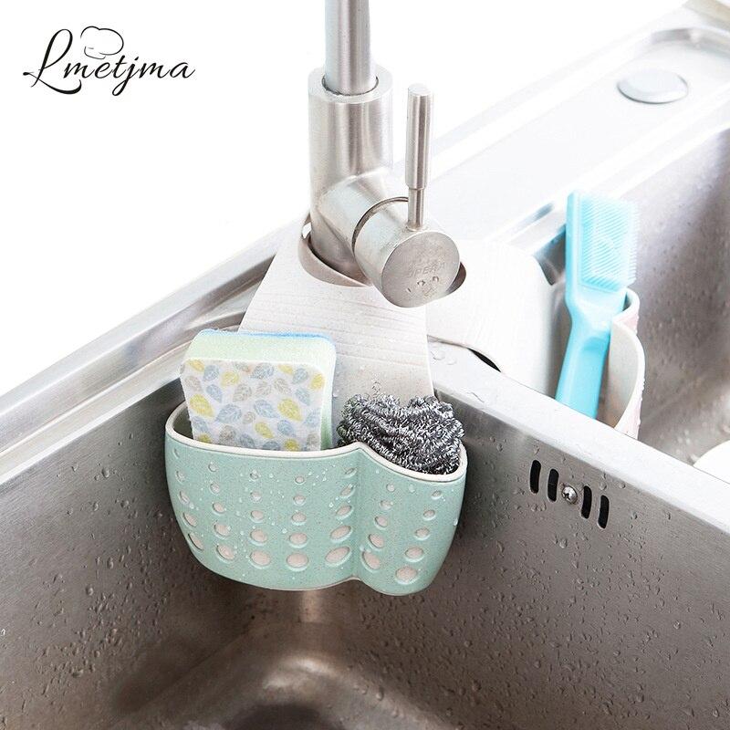 LMETJMA Küche Schwamm Ablauf Halter Weizen Faser Schwamm Lagerung Rack Korb Waschen Tuch Oder Wc Seife Regal Organizer KC0608-2