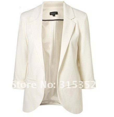 2014 haoduoyi-001 Free Shipping Women Blazers Fashion brand Coat Jacket,Lady plus size Seven-Sleeve Solid Suits XXL