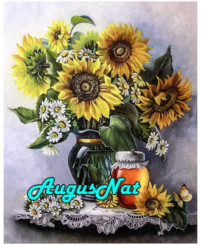 5d полный цветок Алмазная картина ваза с подсолнухами Алмазная вышивка цветы холст картина бисер масляная краска по номерам большой