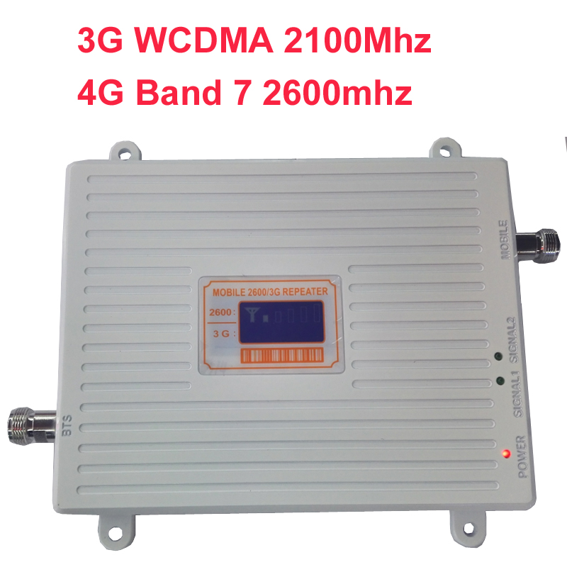 WCDMA 3G 4G Amplier BAND7 FDD LTE 4G Booster 22dbm 65dbi LCD Display 2600mhz 3G 4G Booster Repeater 4G Booster Repeater