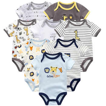 Baby Clothes 8Pcs/lots Unisex Newborn Boy&Girl Rompers roupas de bebes Cotton Baby Toddler Jumpsuits Short Sleeve Baby Clothing - DISCOUNT ITEM  52 OFF Mother & Kids