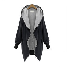 2016 Fashion Hooded Basic Jackets Plus Size XS-5XL Long Sleeve Outerwear & Coats Loose Windbreaker Female Spring Cardigan Zipper