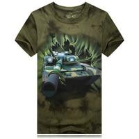 Militaire stijl T-shirt 2016 Mannen tank Gedrukt mannen 3D tie-dye serie Katoen Kleding Korte Mouw Legergroen t-shirt Fashion Tees
