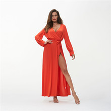 Maxi Dress Long Sleeve Plus Size