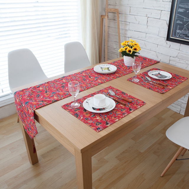 Tischläufer Modern cotton and linen tablecloth table runner style food