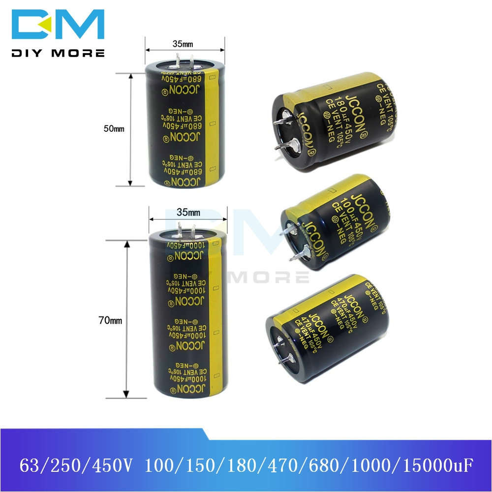 Aluminum Electrolytic <font><b>Capacitor</b></font> 63V 250V <font><b>450V</b></font> <font><b>100uF</b></font> 150uF 180uF 470uF 680uF 1000uF 15000uF High Frequency Low ESR Through Hole image