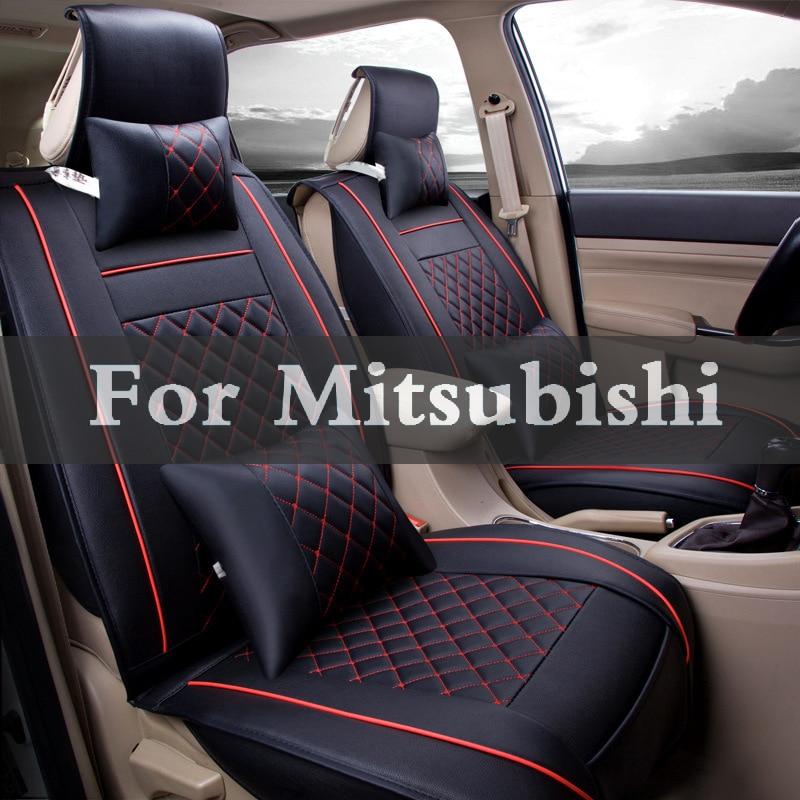 Luxury Car Seat Cover Universal Pu Leather Auto Seat Pad For Mitsubishi Mirage Montero Sport Outlander Pajero Space 2017 luxury pu leather auto universal car seat cover automotive for car lada toyota mazda lada largus lifan 620 ix25