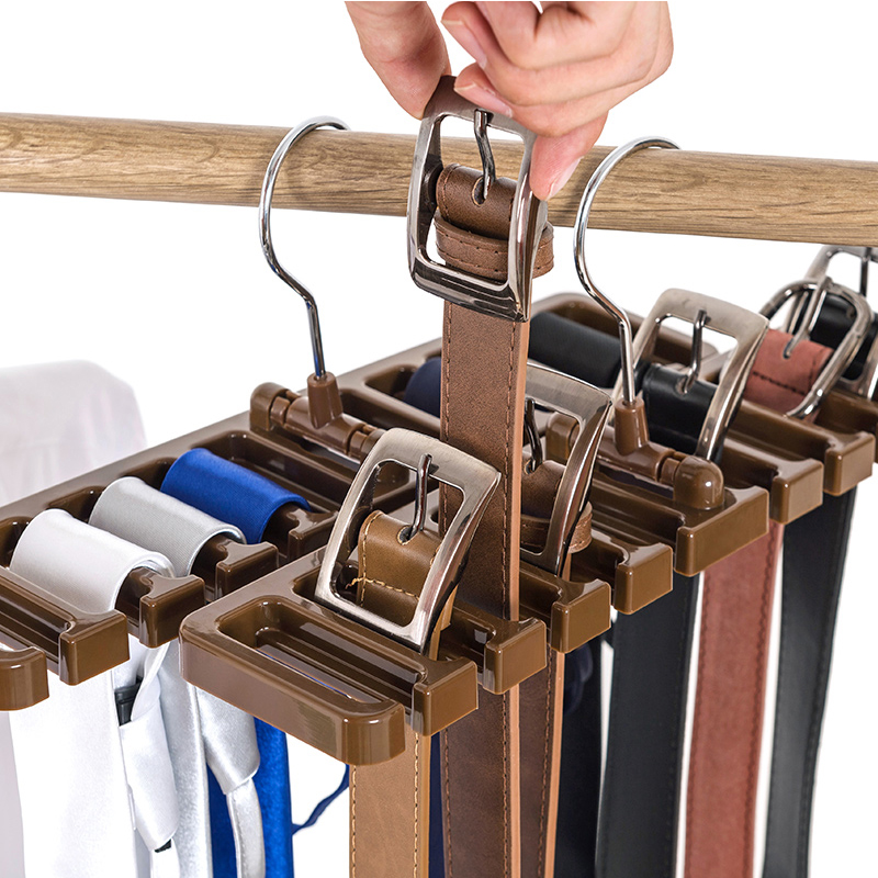 Kitchen Bathroom Wardrobe Belt Storage Rack Shelf Organizer Space ...