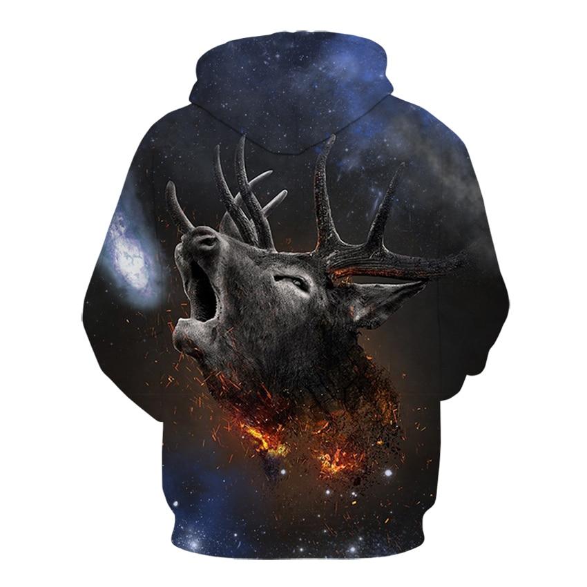 Fire Deer  3D Hoodies  1