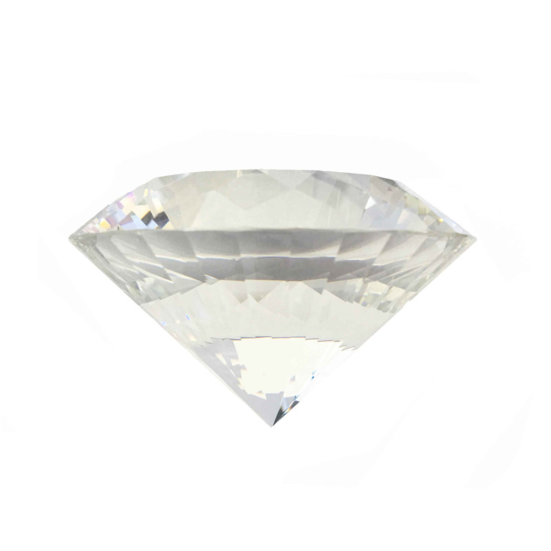Free Shipping 1pc 150mm Transparent Multi-faceted Optical Crystal Diamond Glass Paperweight As Counter Decoration все цены