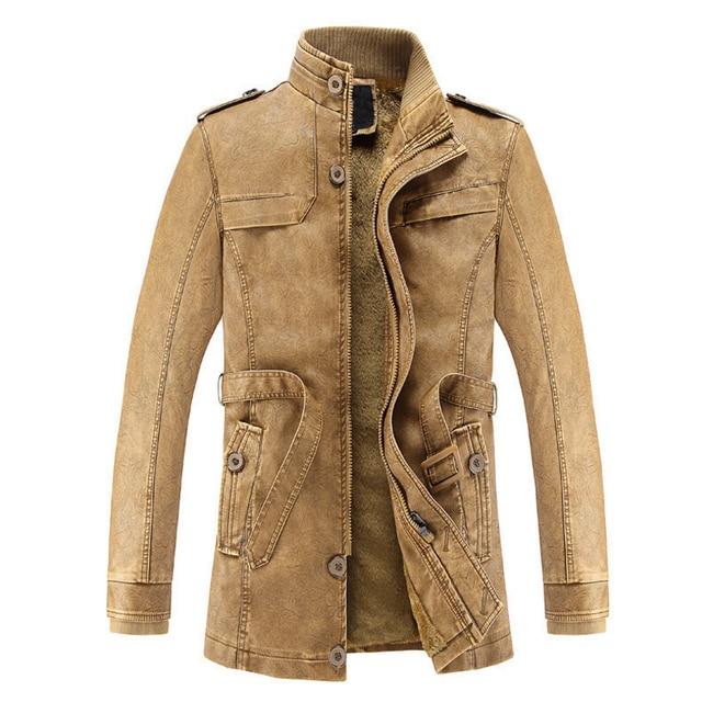 Men's washed Leather Motorcycle Biker Jacket