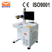 MORN cheap price 20 watt desktop fiber laser marking machine metal laser marker engraving machine