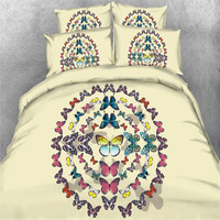 Luxury Oriental 3d Butterfly Bedding Sets Twin Queen Full King Size Bohe BedLinen Quilt Cover 4