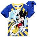 Meninos camiseta manga curta moda verão big hero 6 t-shirt do bebê dos miúdos dos desenhos animados impressão de algodão crianças tops tees roupas