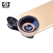 Apexel смартфон профессиональный объектив камеры kit (0.45x супер Широкоугольный Объектив + 12.5x Макро-Объектив) для iphone xiaomi redmi samsung
