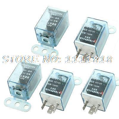 5 Pcs Replacement DC 12V LED Light Indicator Lamp 3 Pin Car Flasher Relay