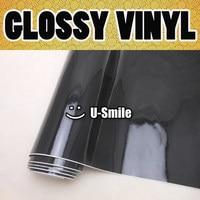 High Quality Glossy Black Vinyl Wrap Gloss Black Wrap Vinyl Film Air Bubble Free For Car