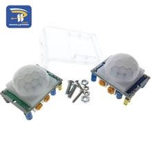 HC-SR501 Отрегулируйте инфракрасный ИК пироэлектрический инфракрасный PIR модуль датчик движения модуль детектора и кронштейн для Arduino Diy Kit