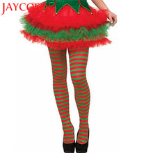 6a698f01d9d12 Christmas Women Stockings Over Knee Thigh High Hosiery Elf Tights Striped  Red Green Sexy Stockings Fancy Costume Pantyhose NO2A