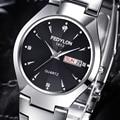 Luxury Brand Lovers' Watches Women Men Double Calendar Waterproof Women Dress Men Casual Stainless Steel Quartz Wrist Watch 0240