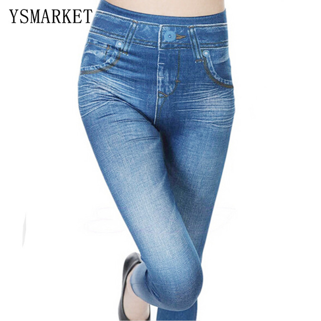 New Slim Stretchy High Waist Thick Jegging Jean Womens Stylish Skinny Pencil Pants Fleece Lined Winter Jeggings Leggings H685