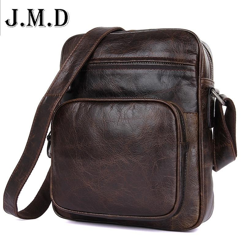 J.M.D Brand Vintage Messenger Bag Men Leather Men Messenger Bags Crossbody Shoulder Bag Genuine Leather Shoulder Bags