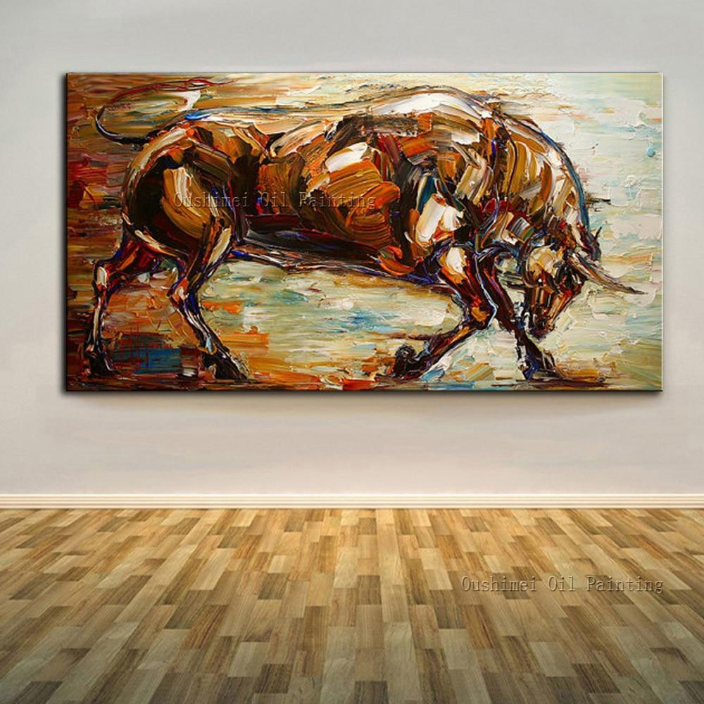 Հմտություններ Նկարիչ Ձեռագործ նկարել բարձրորակ աբստրակտ կենդանիների յուղաներկ նկարներ կտավների վրա Ձեռագործ պատրաստված աբստրակտ ուժեղ յուղի յուղաներկ