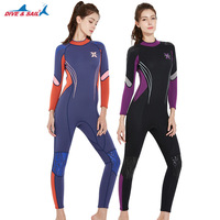 Professional 3mm Neoprene Wet Suit Female One piece Long Sleeve Wet Jump Suits Sport Swimwear Wetsuits For Women Quality Brand