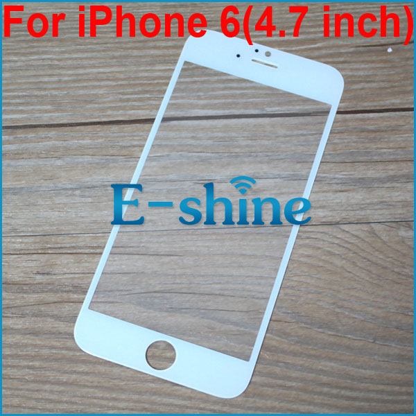 Touch Screen Out Front Glass Lens Cover For iPhone 6 6S Black and White Glass Lens Digit ...