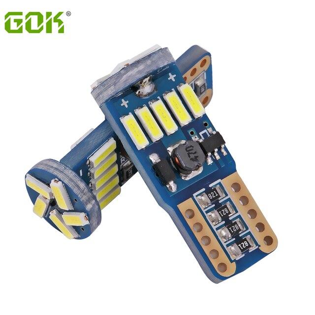 100 sztuk W5W T10 15SMD 4014 led canbus nie błąd led T10 canbus W5W led światło bagażnika lampka drzwi led uniwersalny lampka do czytania