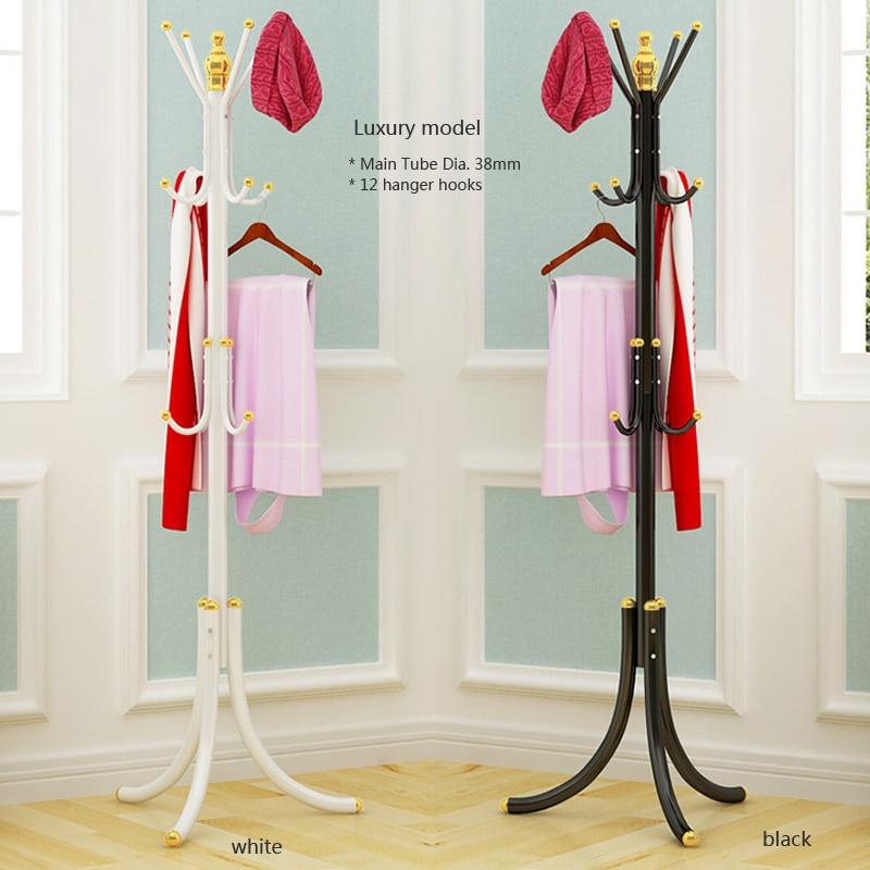 Coat Rack Hat Stand Tree Clothes Hanger Umbrella Holder Metal Organizer 12 Hooks