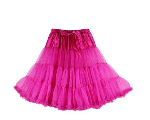 Евро ЗО, проверка, Нижняя юбка для женщин, шифоновая юбка-американка, юбка-пачка для взрослых, бальное платье, для танцев, летняя, 65 см, длинная юбка, сексуальная, однослойная - Цвет: rosy