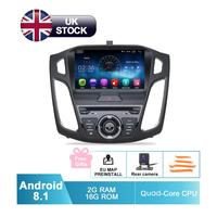 9 HD Android 8.1 Car GPS Stereo For 2015 2016 2017 Focus Auto DVD Audio Video Radio FM RDS WiFi Navigation Free Backup Camera