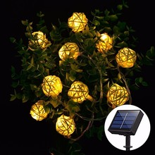 Smernit Solar Light Led Outdoor Lights Christmas Garland Bulbs 4M 20Leds
