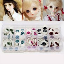 Subcluster 50 Pcs/Set 12mm Doll Eyeballs Half Round Acrylic Eyes for DIY Doll Bear Mixed Colors 12mm doll stuffed doll eyeballs half round acrylic eyes for diy doll bear crafts mix color plastic doll eyeball 100pcs box