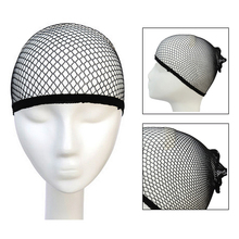 30pcs Weaving Cap Open End Black Cool Mesh Wig Elastic Hair Net In Hairnets Fixed Long Dome for Girls