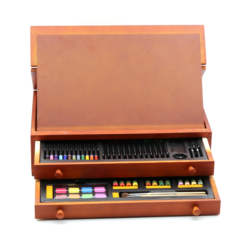 SIMBALION живопись двойной слой деревянный ящик костюм дети живопись группы Акварель цвет пера привести картина маслом подарочная коробка
