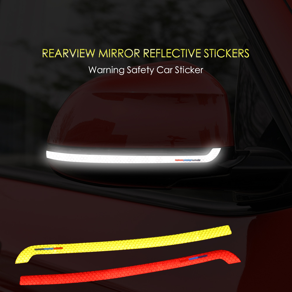 Reflective Tape Anti-collision Car Styling Side Rearview Mirror Car <font><b>Sticker</b></font> For <font><b>BMW</b></font> X3 F25 g01 X4 F26 <font><b>X5</b></font> <font><b>F15</b></font> X6 F16 Accessories image