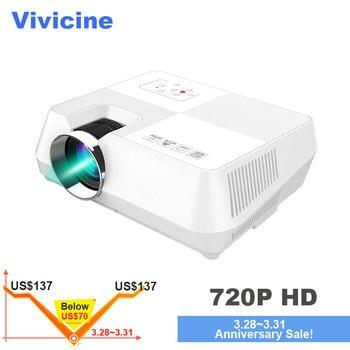 Vivicine Mini projecteur LED, projecteur vidéo multimédia Portable pour jeux de cinéma en option 1280x800 Android WIFI bluetooth