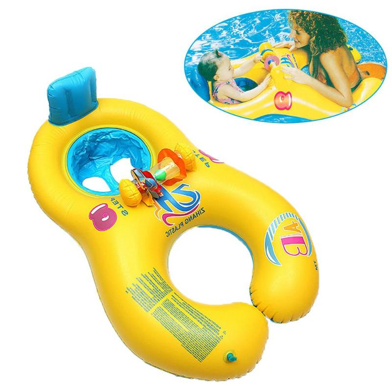 Baby Swimming Float Neck Inflatable Mother Baby Swim Float Ring Double Person Swimming Ring Safety Swim Pool Accessories