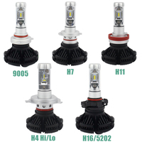 1Pair Car LED Headlight H13 H4 Hi Lo Beam H7 50W 6000LM CSP Chip H1 H11