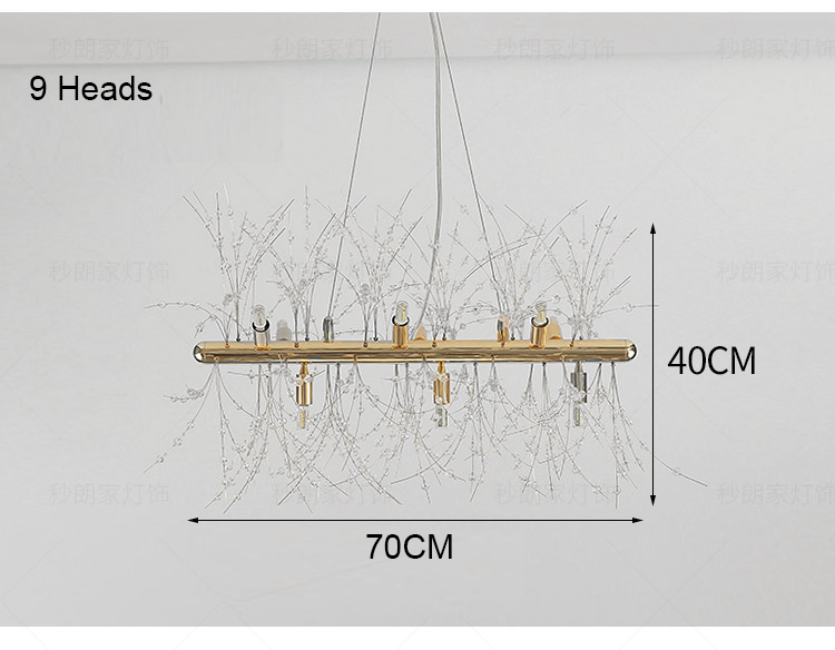 Bright light hanging chandelier