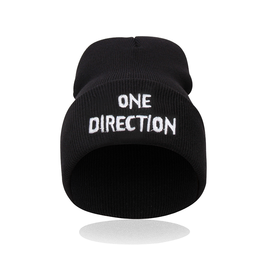 2016 Winter Hat Female ONE DIRECTION  Cotton Hat Beanies For Men  Women Cap Bonnet Gorro Invierno Warm Skullies Knitted Caps  1pcsfashion knits hat cap winter hat for women hat skullies beanies brand soft cap female cap bonnet femme gorros mujer invierno
